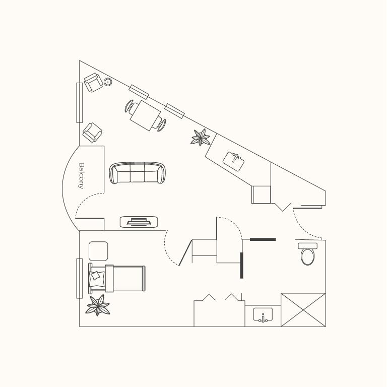 Plan C 1 Bedroom