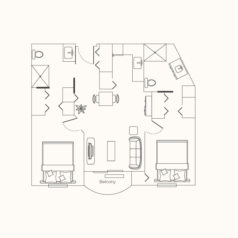 Plan E 2 Bedroom